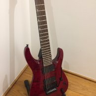 Jackson SLATXMGQ3-7 - 7 string guitar in transparent red