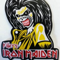 IRON MAIDEN Band, Decal, Sticker, Case,Guitar,Bedroom