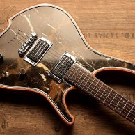 Crazy custom shop madness masterbuilt by Frank Scheucher in Germany. Guitar with real Marble top