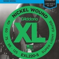 EXL 220-5 DADDARIO 40-125 set bass xl long 5str - str. git. bas.