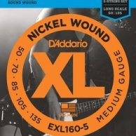 EXL 160-5 DADDARIO 50-135 set bass xl long 5str - str. git. bas.