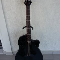 Ovation Acoustic-Electric Guitar in BLACK color (D. Mustaine)