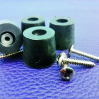 CONICAL RUBBER FEET, SCREWS & WASHERS SET