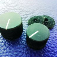 2 Solid aluminium set screw knobs - 80´s