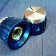 Gold top set screw knob 5 pieces set for Marshalls.