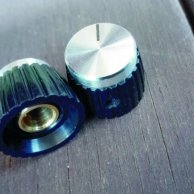 Silver top set screw knob 5 pieces set for Marshalls.