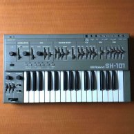 Roland Monophic Synthesizer SH-101 80's Vintage Keyboard Analog Synthesizer